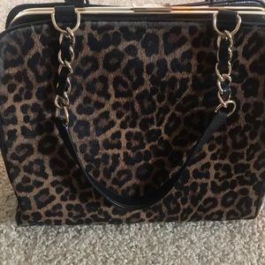 Kate spade point satchel animal print purse